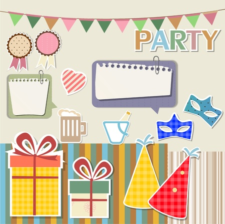 Party design elements for scrapbook Stock Vector - 13585599