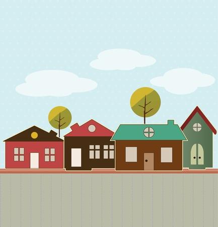 Cartoon town Illustration