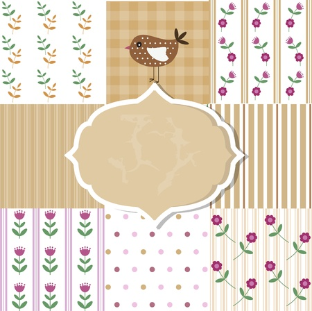 Scrapbook template Vector