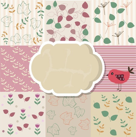 Scrapbook template Stock Vector - 13677999