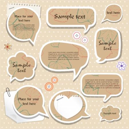 Speech bubbles   scrapbook elements