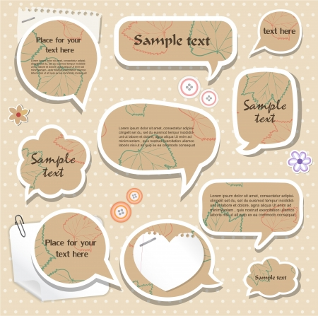 Speech bubbles   scrapbook elements