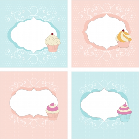 Set of greetings cards Stock Vector - 13786433