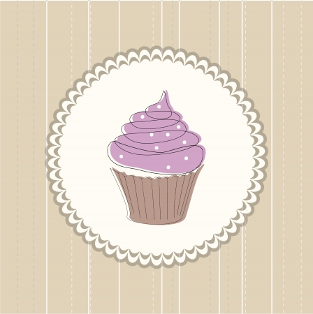 Cupcake card Stock Vector - 13786427