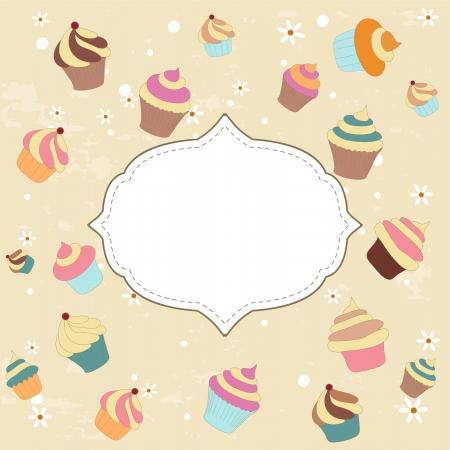bakery price: Cupcake card