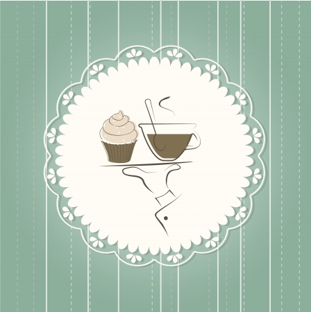 Coffee menu card Vector