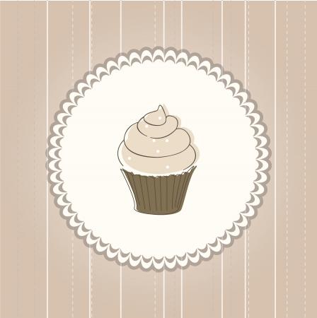 Cupcake card Stock Vector - 13848573