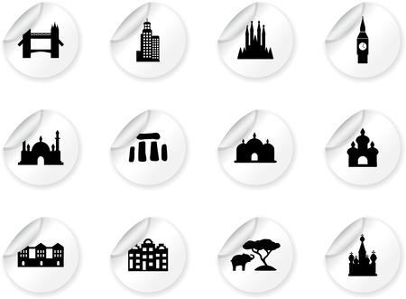 sagrada familia: Stickers with landmark icons