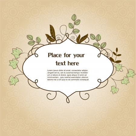 Floral frame Stock Vector - 13914054