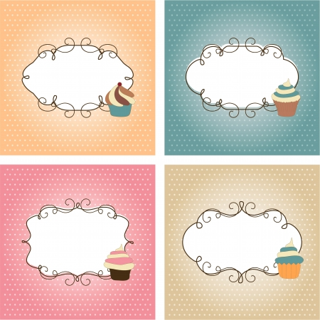 Set of greetings cards Stock Vector - 13914056