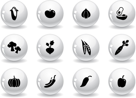 beets: Web buttons, vegetables icons