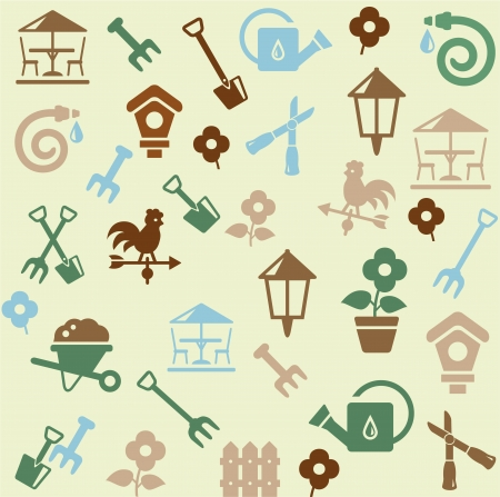 gardening equipment: Gardening pattern