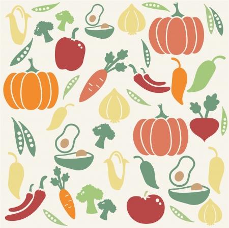 avocados: Vegetable pattern Illustration