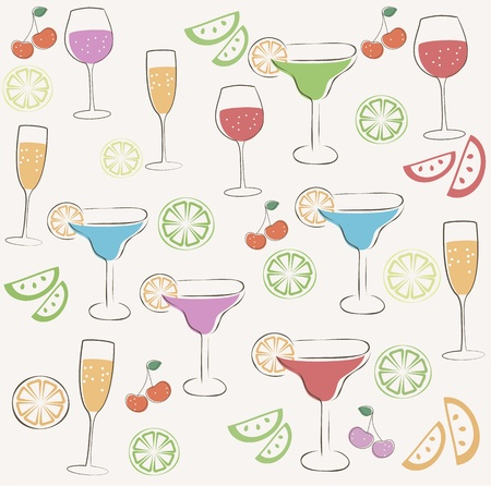 Cocktail party pattern Vector