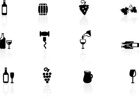 barrels set: Wine icons