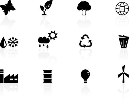 recycling symbol: Environment icons Illustration