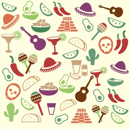 Mexican seamless pattern Stock Illustratie