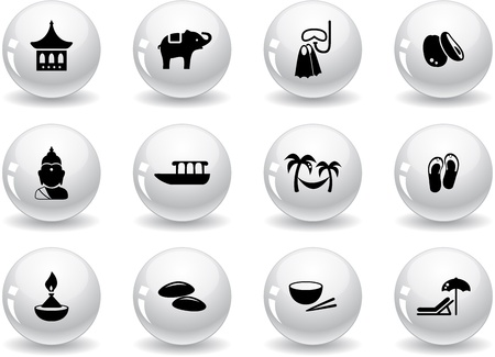 Web buttons, thai icons Vector