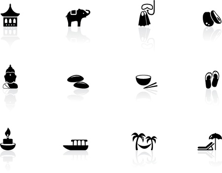 bangkok: Thai icons Illustration