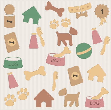 kennel: Dog pattern Illustration