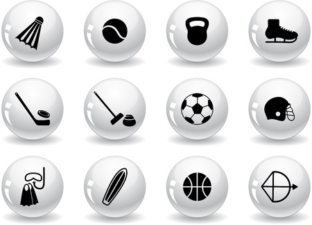 curling stone: Web buttons, sport equipment icons