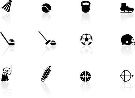Sport equipment icons Stock Vector - 14478734
