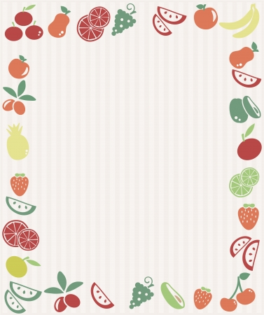 Fruit frame Vector