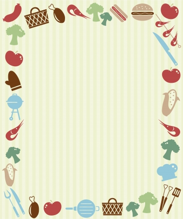 Barbecue picnic invitation Vector