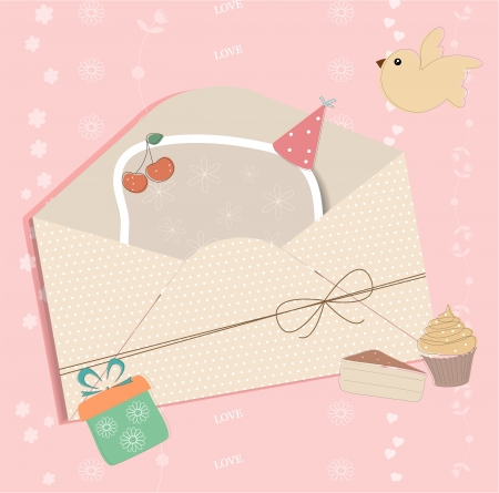 Greeting card with envelope Stock Vector - 14731006