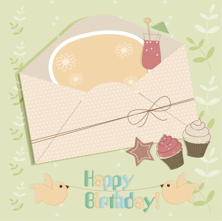 Greeting card with envelope Stock Vector - 14731000