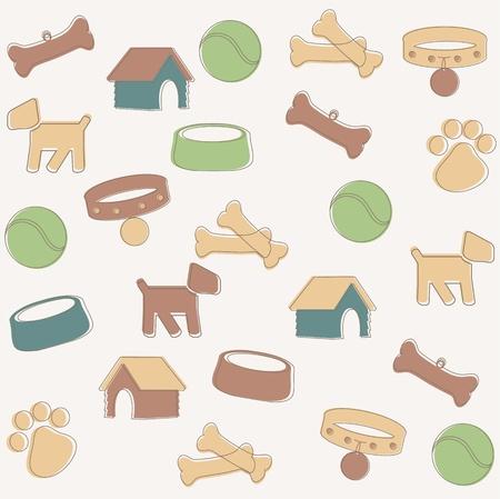 hueso de perro: Perro patr�n