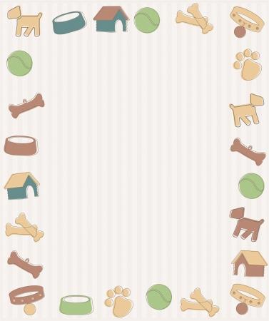Frame with dog symbols Illustration