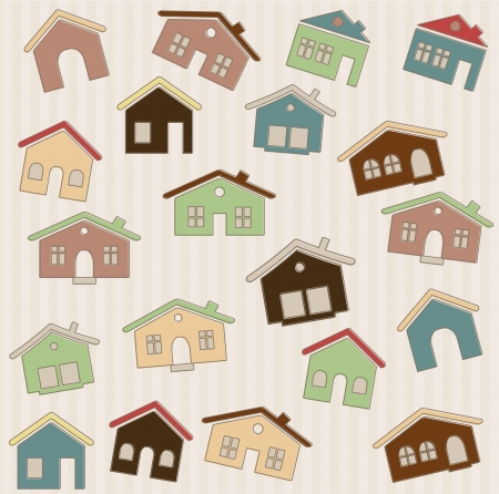 Houses pattern Stock Vector - 14931160