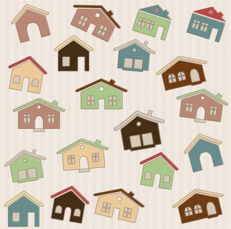 Houses pattern Stock Vector - 14931160