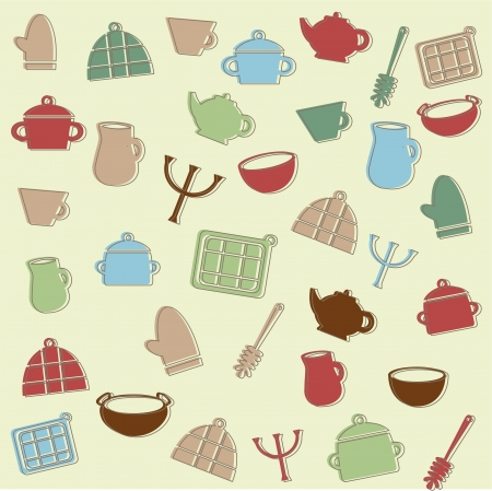 Kitchen pattern Stock Vector - 15500063