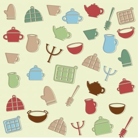 Kitchen pattern Stock Vector - 15500063