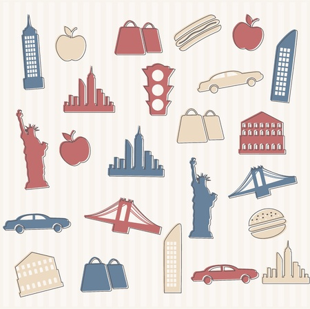 empire state building: New York seamless pattern