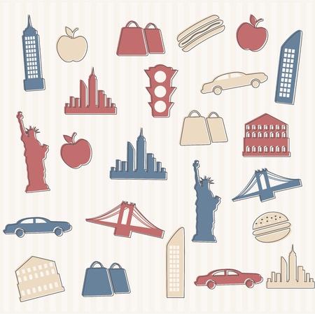 sem costura: Nova York sem emenda Ilustra��o
