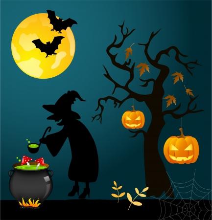 cauldron: Halloween card