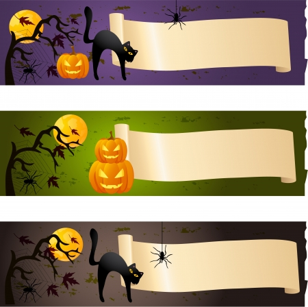 spider web background: Halloween banners