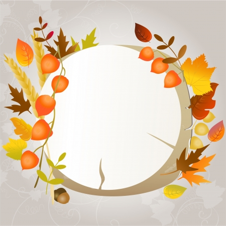 Autumn greeting card with place for text Vector