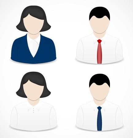 man vrouw symbool: Mensen iconen Stock Illustratie