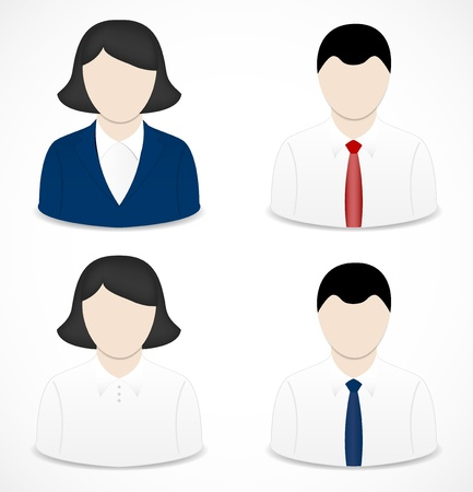 financial consultant: People icons Illustration