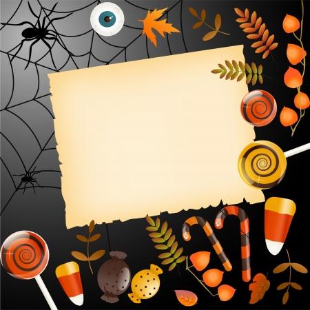 halloween party: De kaart van Halloween met plaats voor uw tekst
