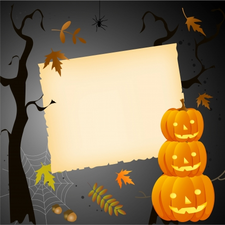 Halloween card with place for your text Stock Vector - 15820519
