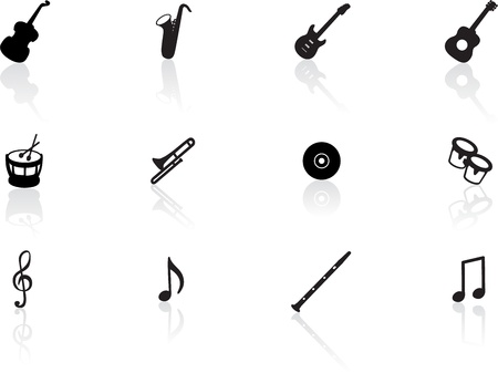 wind instrument: Musical icons Illustration