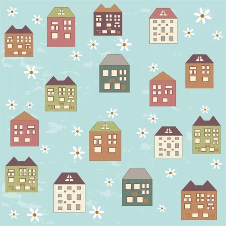 Houses pattern Stock Vector - 15903252
