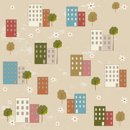 Houses pattern Stock Vector - 15903254