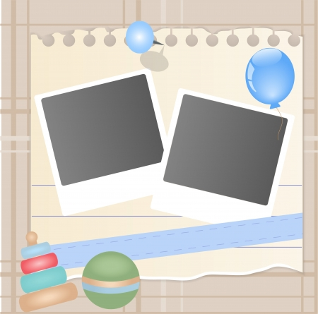 picture card: Baby card Illustration