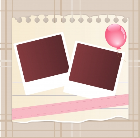 baby picture: Baby card Illustration
